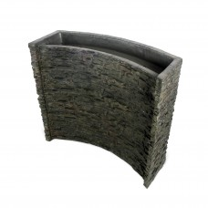 Stacked Slate Spillway Wall 32""