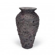 Small Stacked Slate Urn